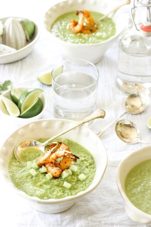 Zupa krem ze szparagów z krewetkami
