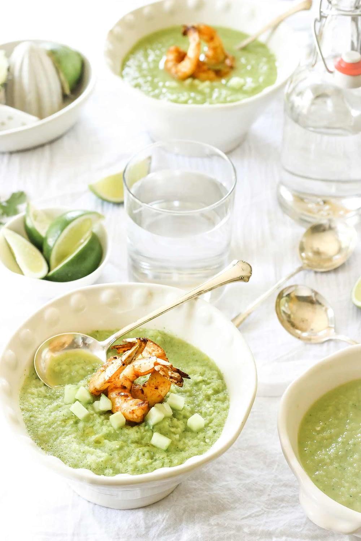 Zupa krem ze szparagów z krewetkami przepis